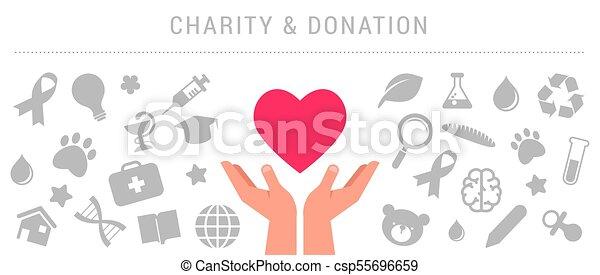 Caridad, donación y plantilla de posters - csp55696659