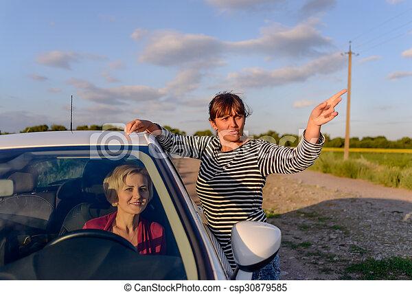 Resultado de imagen de dar direcciones en el coche