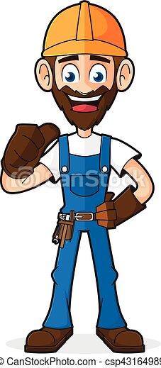 Handyman dando pulgar arriba - csp43164989