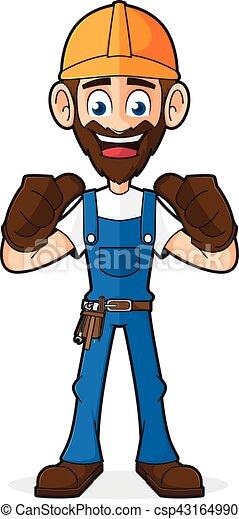 Handyman dando pulgares arriba - csp43164990