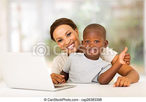 dar, menino, pequeno, polegar cima - csp26383398