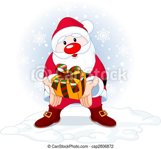 Santa da un regalo - csp2806872