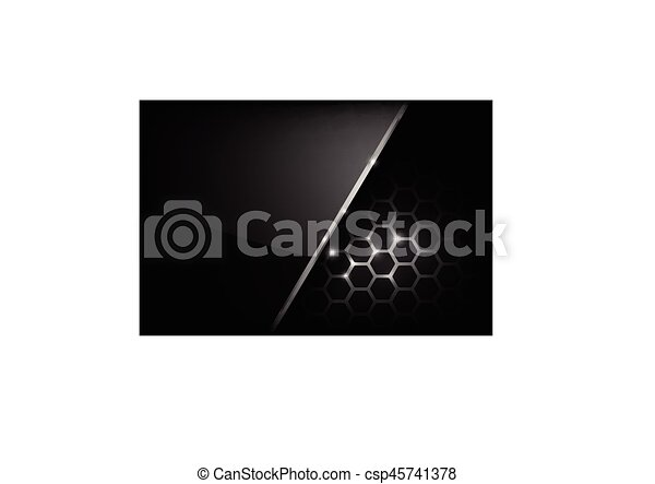 Dark and black with metal honeycomb pattern vector illustration eps 10 003 - csp45741378