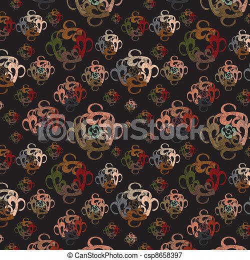 Dark background with abstract eleme - csp8658397