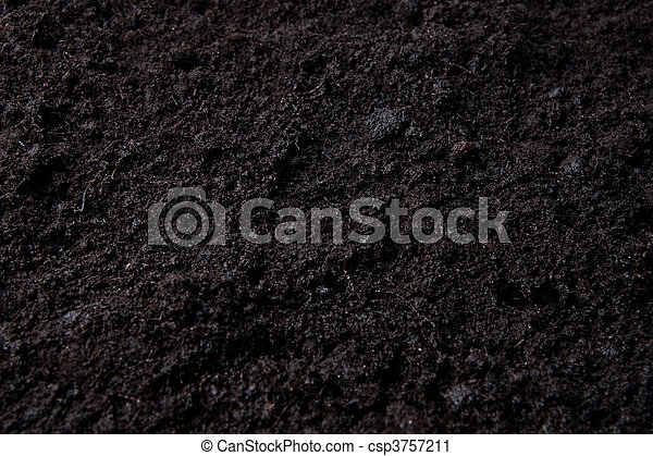 dark background with top soil - csp3757211
