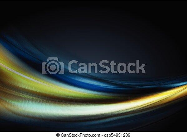 Blue Dark and yellow background rare photo
