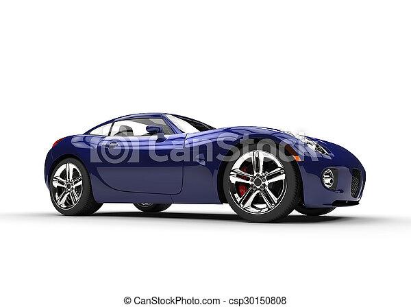 Dark Blue Fast Stylish Car - csp30150808