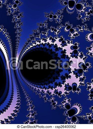Dark - blue fractal background - csp26400062