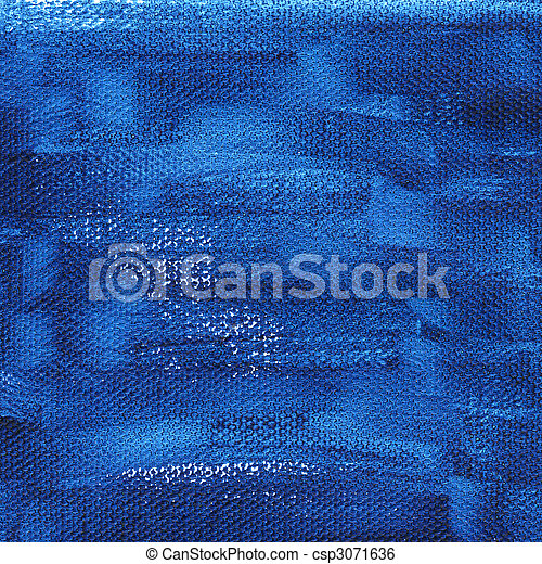 dark blue painted background with canvas texture - csp3071636