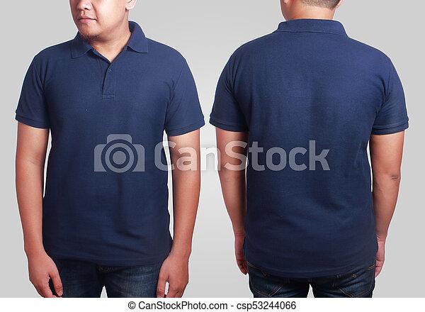 Dark Blue Polo Shirt Mockup Template