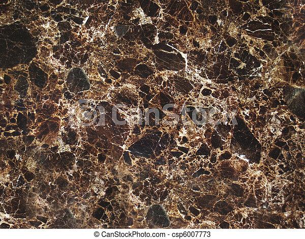 Dark Brown Cracked Marble Texture - csp6007773
