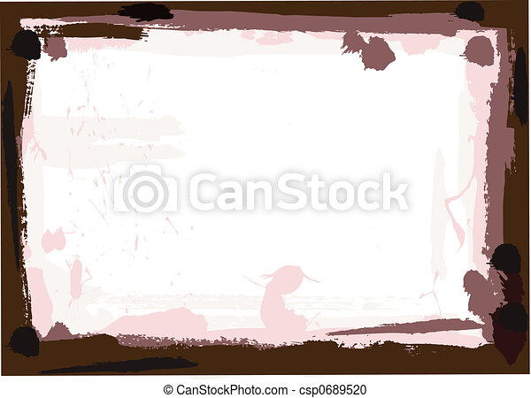 Dark Brown Grunge Border - csp0689520