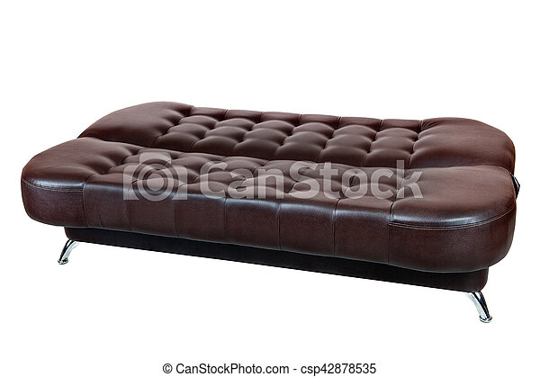 Phenomenal Dark Brown Leatherette Sofa Bed Caraccident5 Cool Chair Designs And Ideas Caraccident5Info