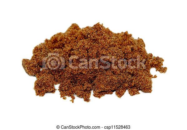 Dark brown soft sugar - csp11528463