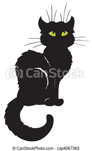 Dark cat silhouette - csp4067363