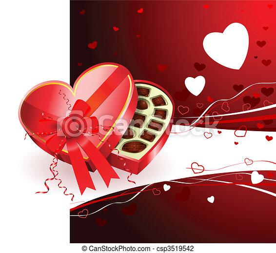 Dark Chocolate Box Valentine S Day Design Background