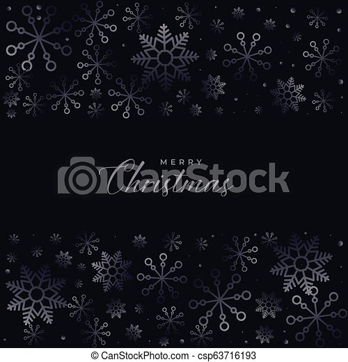dark christmas snowflakes background design - csp63716193