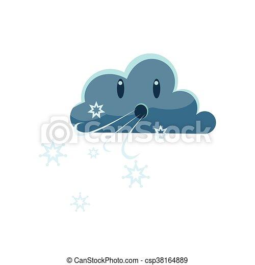 Dark Cloud Blowing Cold Wind - csp38164889