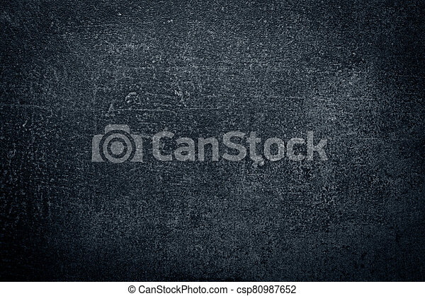 Dark concrete wall, abstract texture background - csp80987652