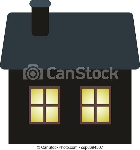 dark cottage - csp8694507