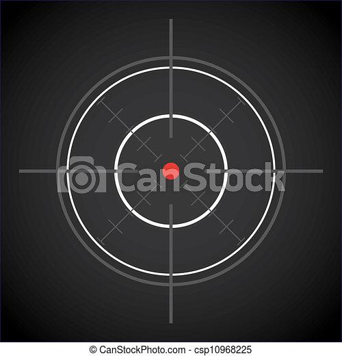 dark crosshair with red dot - illustration - csp10968225