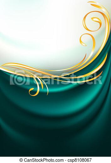 Dark emerald fabric curtain - csp8108067
