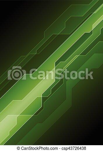 Dark green abstract tech background - csp43726438