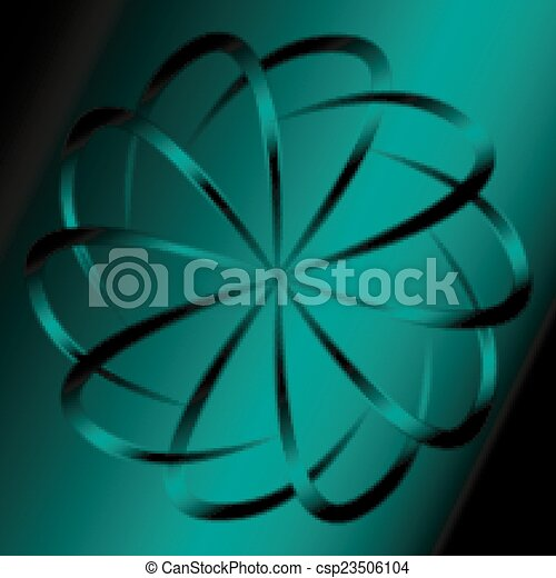 Dark green circular background - csp23506104