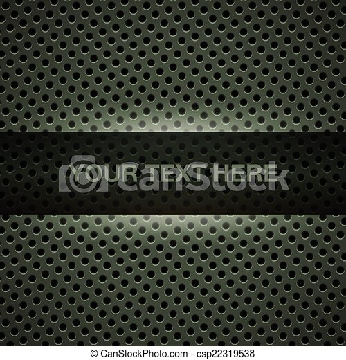 Dark green metal background - csp22319538