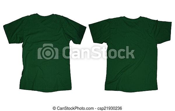 44026fe25 Dark green t-shirt template. Wrinkled blank dark green t-shirt ...