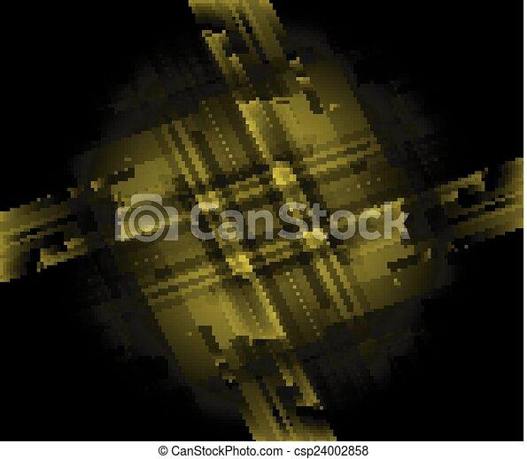 Dark green technical background - csp24002858