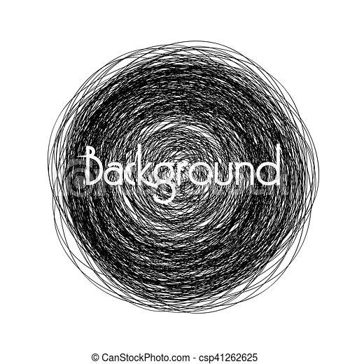 dark grunge circular banner vector illustration