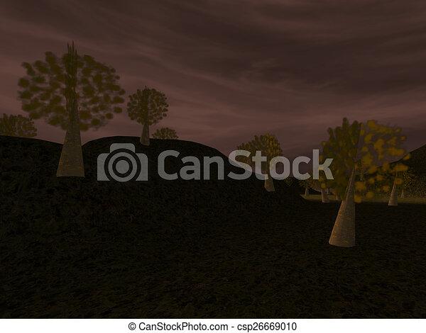 Dark landscape - csp26669010