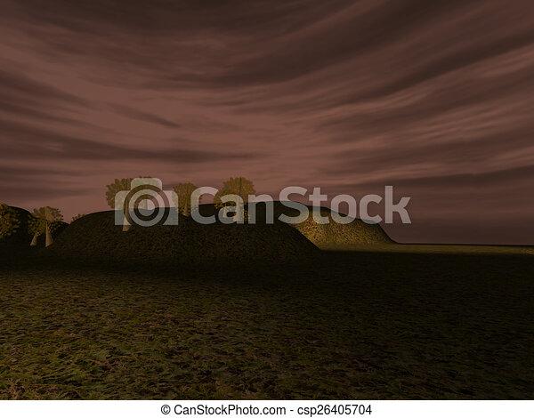 Dark landscape - csp26405704