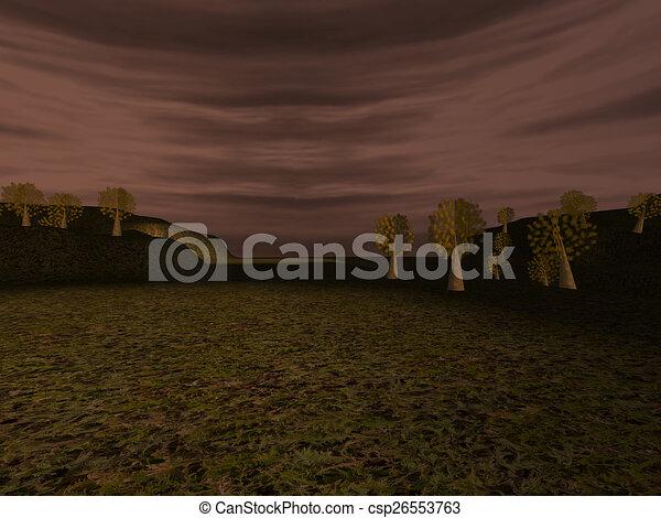 Dark landscape - csp26553763