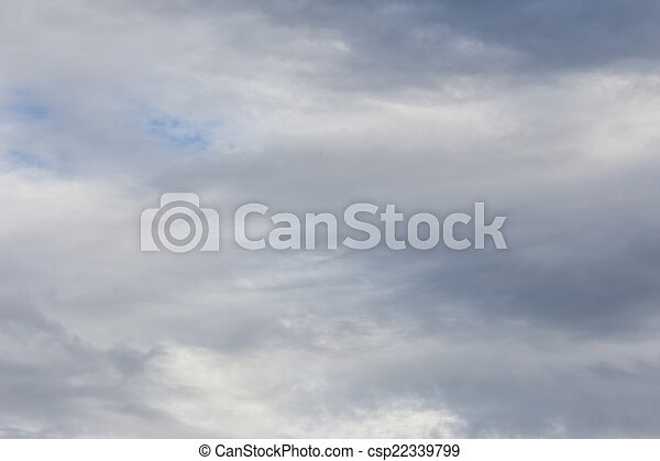 Dark Large Puffy Storm Clouds From Aerial View in the Sky. - csp22339799