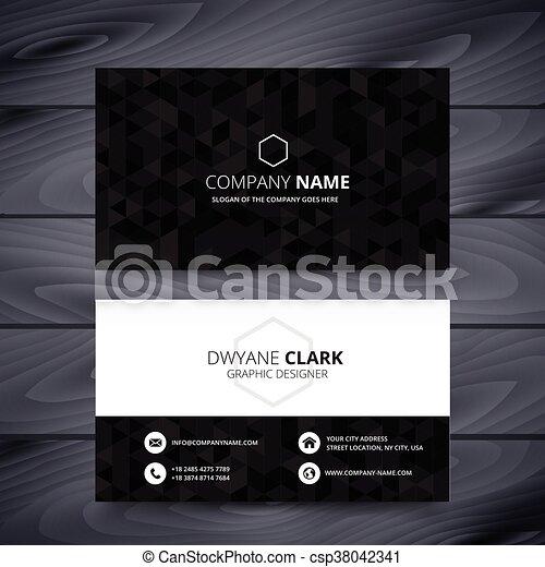 Dark modern business card design template dark modern business card design template csp38042341 flashek Gallery