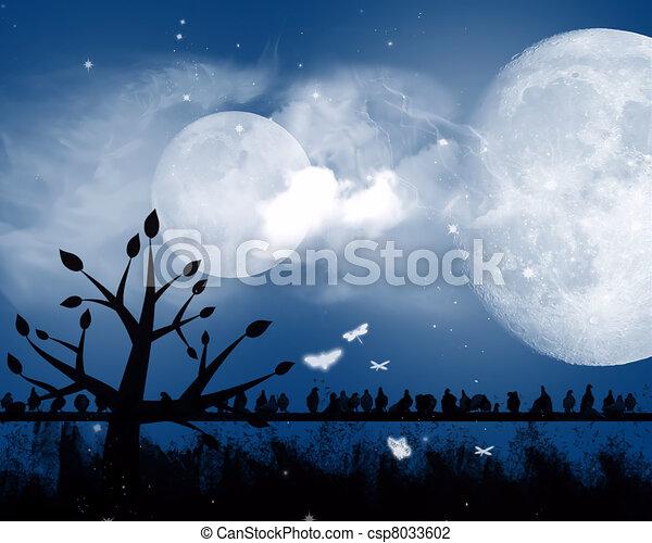 Dark night - csp8033602
