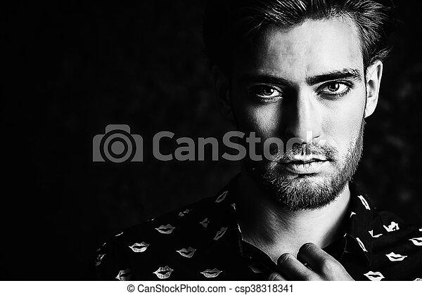 dark portrait - csp38318341