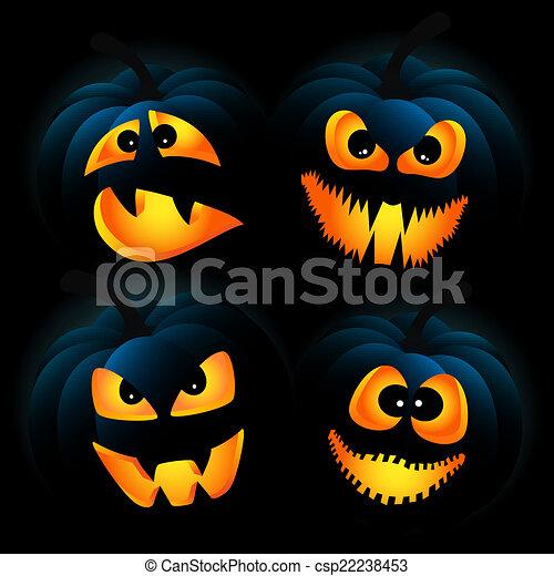Dark pumpkins - csp22238453
