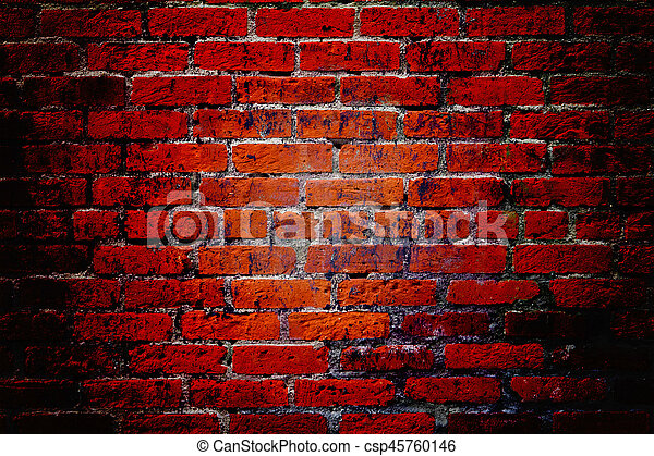 Dark Red Brick Wall Textured Background