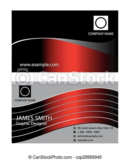 Dark red business card design vector template dark red business card design csp28869948 cheaphphosting Image collections
