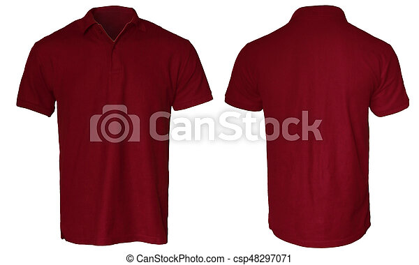 dc34a3155 Dark red polo shirt mock up. Blank polo shirt mock up template ...