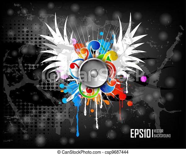 Dark scratch grunge background - csp9687444