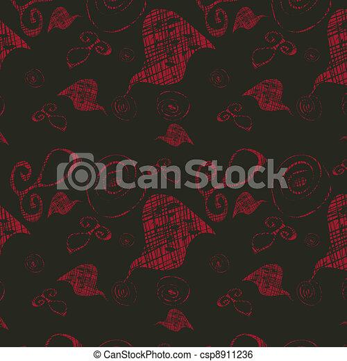 Dark seamless background with brigh - csp8911236