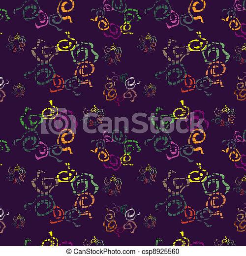 Dark seamless background with brigh - csp8925560