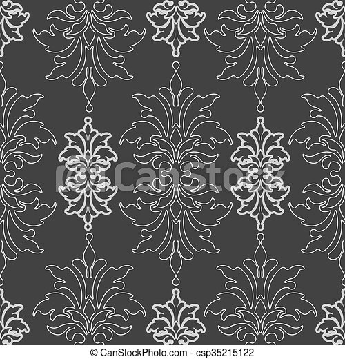 Dark seamless pattern vector - csp35215122