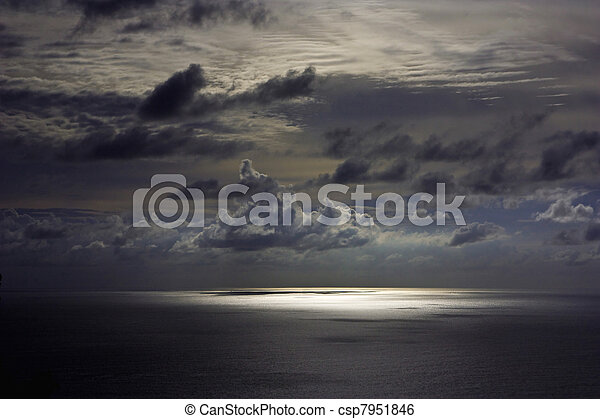 Dark sky over andaman sea - csp7951846
