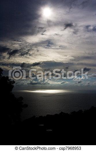 Dark sky over Andaman sea - csp7968953