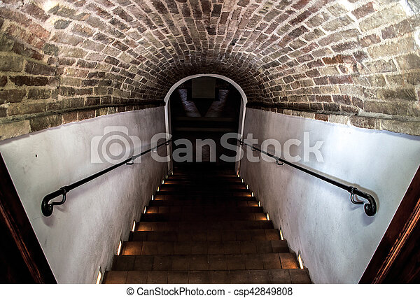 dark basement stairs. brilliant basement dark staircase basement  csp42849808 throughout dark basement stairs k